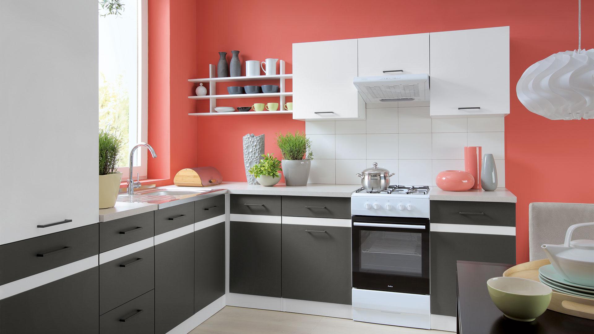Kuchyně Junona Line Brw Výrobce Black Red White
